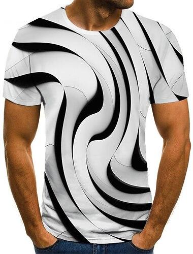 Tee T-shirt Chemise Homme Unisexe 3D effet 3D Imprimes Photos Grandes Tailles Imprime Manches Courtes Decontracte Quotidien Vacances Standard Polyester basique Mode Designer Col Rond