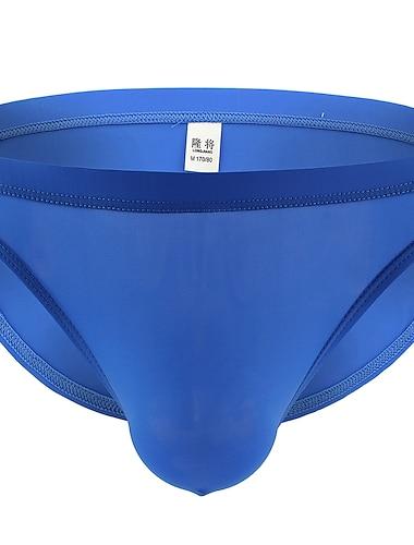 Hombre Basico Slip Microelastico Baja cintura Azul Piscina S