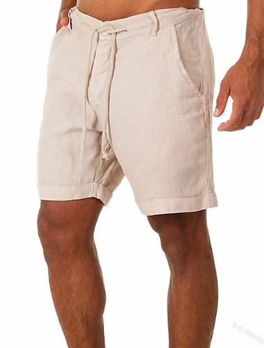 Per uomo Moda Pantaloncini Traspirante All\aperto Zampa di elefante Pantaloncini Largo Giornaliero Per eventi Pantaloni Tinta unica Breve Classico Tasche Collage Blu Cachi Verde Bianco / Estate