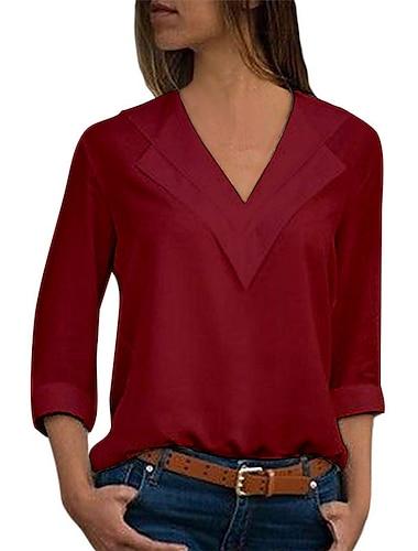 γυναικείο καθαρό χρώμα μπλουζάκι με μακρυμάνικο μπλουζάκι με μπλουζάκι και μπλουζάκι από βαμβακερό σιφόν ανοιχτό μπλε μέγεθος l