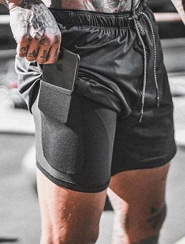 Bărbați Pantaloni Scurți Cargo Îmbrăcăminte Atletică Uscare rapidă Confortabil la umezeală Respirabil Exterior Sport Pantaloni Scurți Sfârșit de săptămână Sală de Fitness Pantaloni Scrisă Lungimea