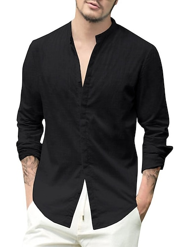 bbalizko mens button up shirt manica lunga sciolto casual spiaggia yoga camicie top bianco
