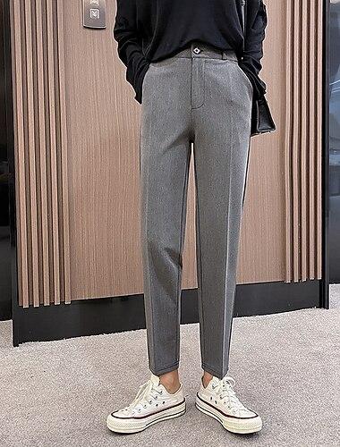 Dámské Základní Šik ven Pohodlné Kalhoty chinos Denní Víkend Kalhoty Bez vzoru Plná délka Kapsy Šedá Černá