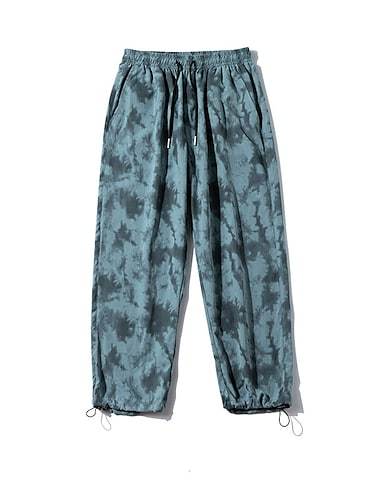 Bărbați Post Chino Pantaloni chinez Zvelt Pantaloni Culoare Camuflaj Bloc Culoare Geometric Gri Maro Albastru Deschis