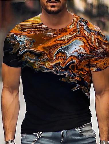 Pánské Unisex Trička Tričko Košile 3D tisk Abstraktní Grafické tisky Tisk Krátký rukáv Denní Topy Na běžné nošení Designové Velký a vysoký Černá