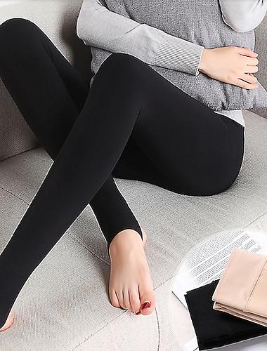 Dámské stylové Klasický styl Pohodlné Yumuşak Kalhoty Legíny Větší velikosti Vypasovaný Ležérní Denní Kalhoty Pevná barva Plná délka Klasika Vysoký pas Černá Béžová
