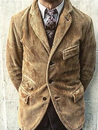 رجالي سترة مناسب للبس اليومي الخريف الربيع عادية معطف عادي متنفس كاجوال جاكتس كم طويل 平织 بقع كاكي