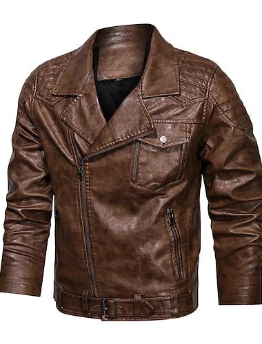 Bărbați Jachetă Zilnic Iarnă Regulat Palton Fit regulat Cald Sportiv Jachete Manșon Lung Culoare solidă Matlasat Cafeniu Deschis Negru Cafea