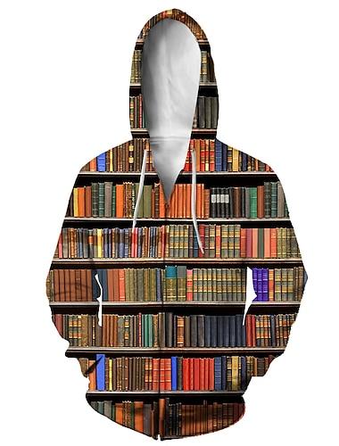 Муж. Толстовка с капюшоном на молнии Животное 3D Капюшон Повседневные 3D печать На каждый день Толстовки Толстовки Длинный рукав Свободный силуэт 2