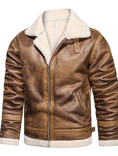 Bărbați Jachetă Zilnic Iarnă Regulat Palton Fit regulat Cald Sportiv Jachete Manșon Lung Culoare solidă Matlasat Kaki Negru