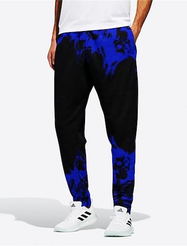 בגדי ריקוד גברים חדשני מעצב מקרי / ספורטיבי גדול וגבוה נושם ספורט יומי כושר וספורט רָץ לְהַנָאָתוֹ מכנסיים מכנסי טרנינג מכנסיים הדפסים גרפיים להבה באורך מלא שרוך אלסטית מותניים שחור