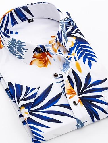 Men\'s Shirt Other Prints Graphic Prints Tartan Geometry Print Short Sleeve Casual Tops Casual Fashion Designer Hawaiian Button Down Collar Black / White Yellow Blushing Pink / Summer