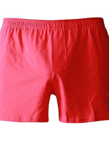 בגדי ריקוד גברים תחתונים הלבשת כסאות מכנסיים וחצאיות בית מיטה בסיסי צבע אחיד כותנה פשוט קיץ צפצף קצר לא מוזכר