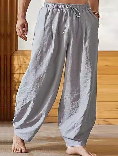 Pánské Čínský styl Harlem kalhoty Prodyšné Yumuşak Harémové Kalhoty Volné Ležérní Denní Kalhoty Pevná barva Plná délka Elastický pas / Šňůrky / Pružnost