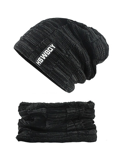 Férfi Védő kalap Utca Hétköznapi Tiszta szín Színes Fekete Kalap